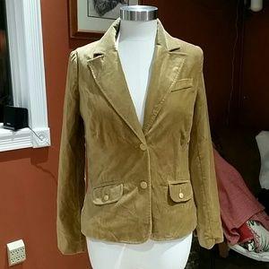 """Old Navy gold """"velvet"""" blazer"""